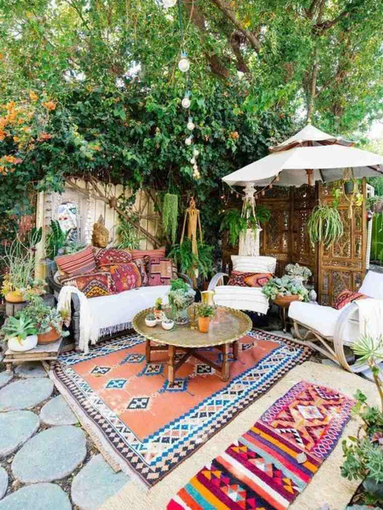ideas patio de estilo boho chic