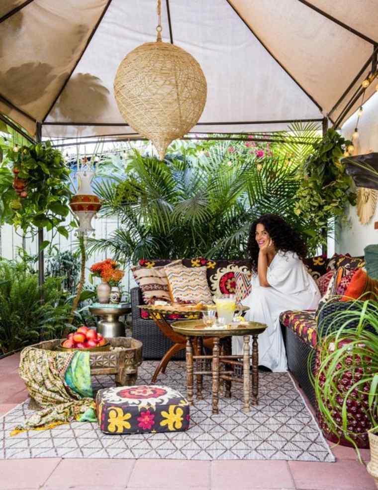 jardín estilo boho e ideas de decoración