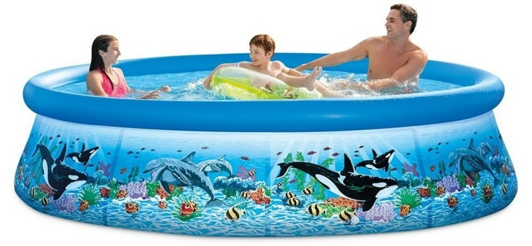 piscinas desmontables decoradas