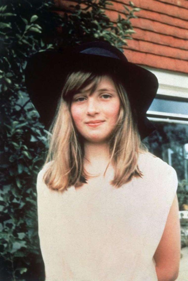 princesa Diana como adolescente
