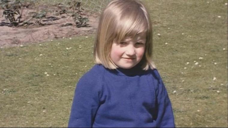 princesa Diana como niña