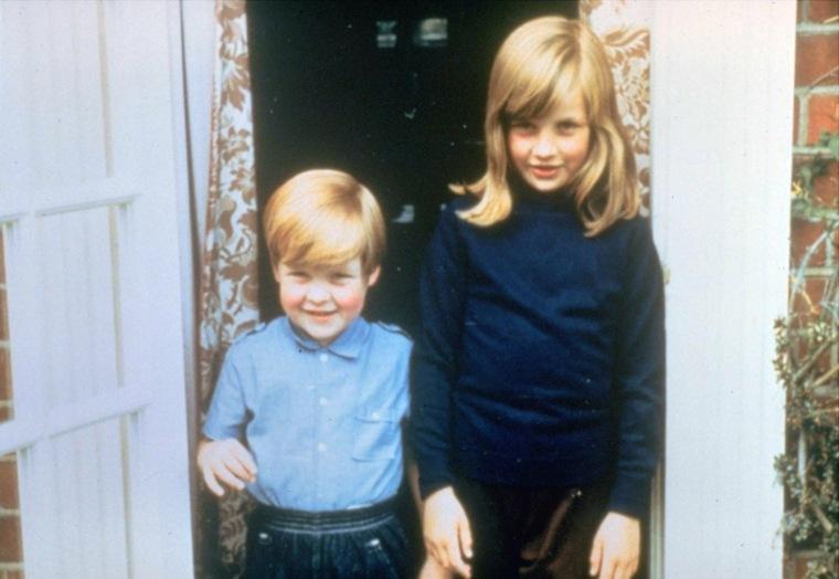 princesa Diana con su hermano