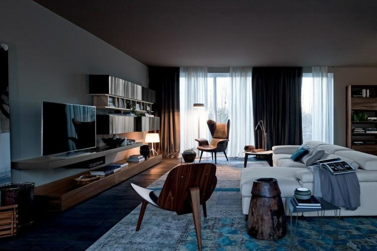 sala-muebles-oscuros-Studio-Ferriani