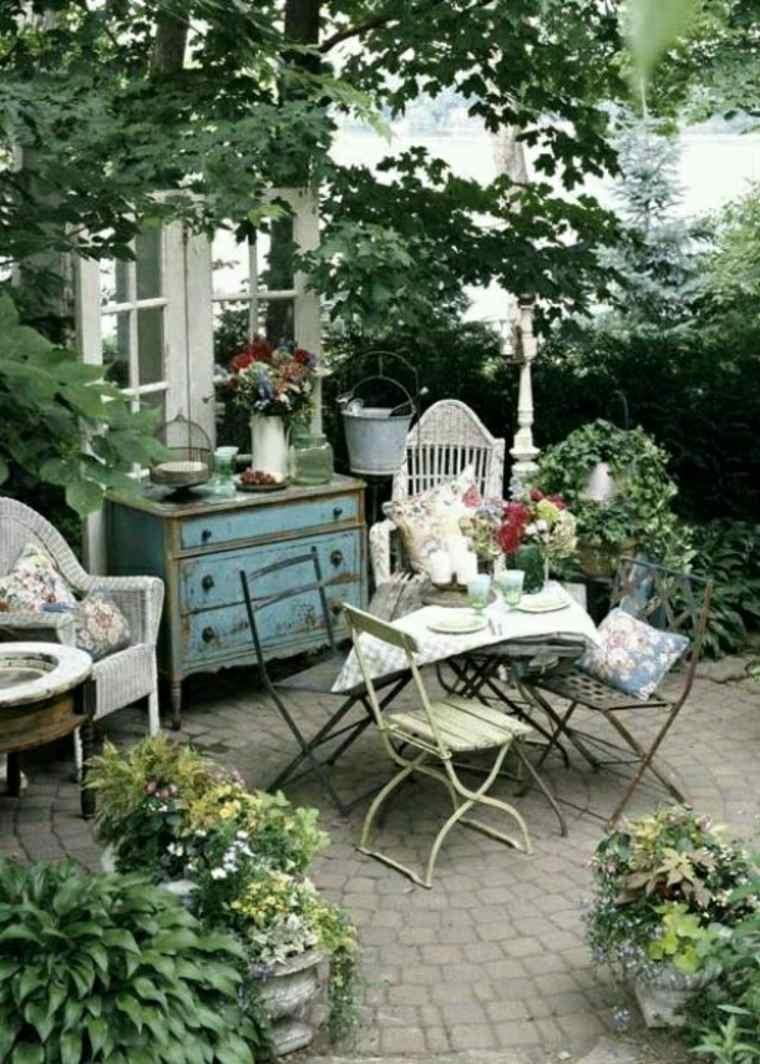 ideas de decoración de jardines boho