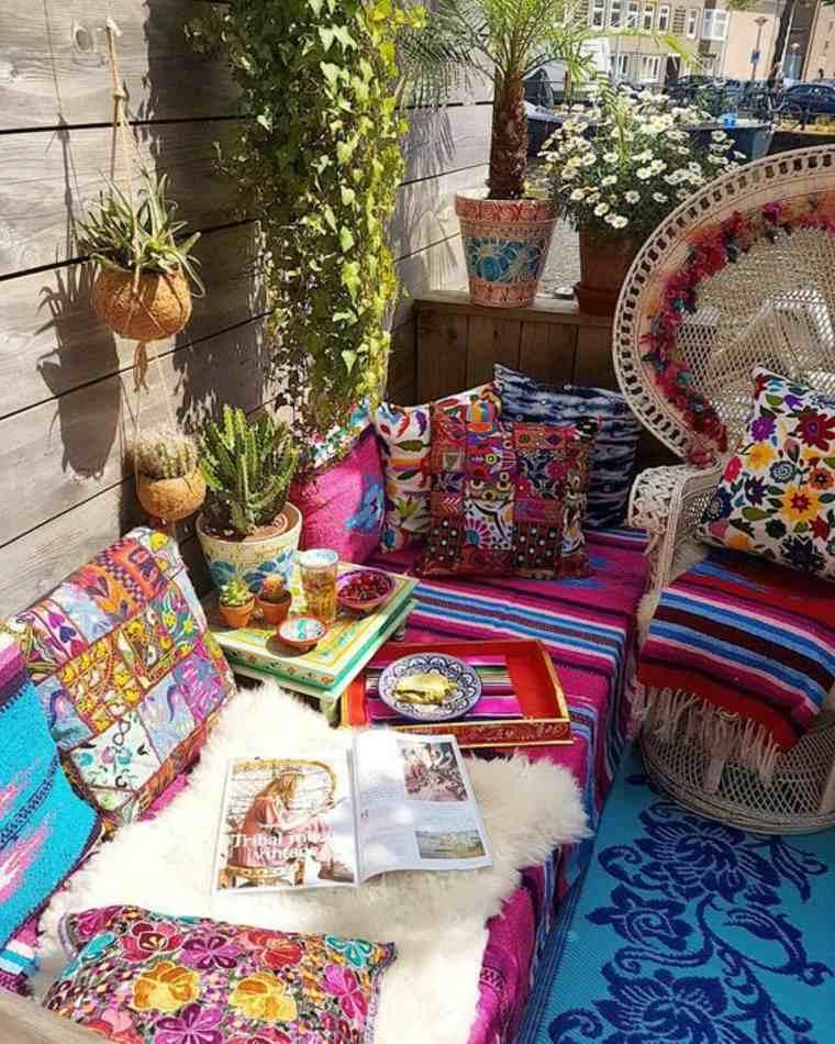 Diseños de jardín boho e ideas de patio trasero