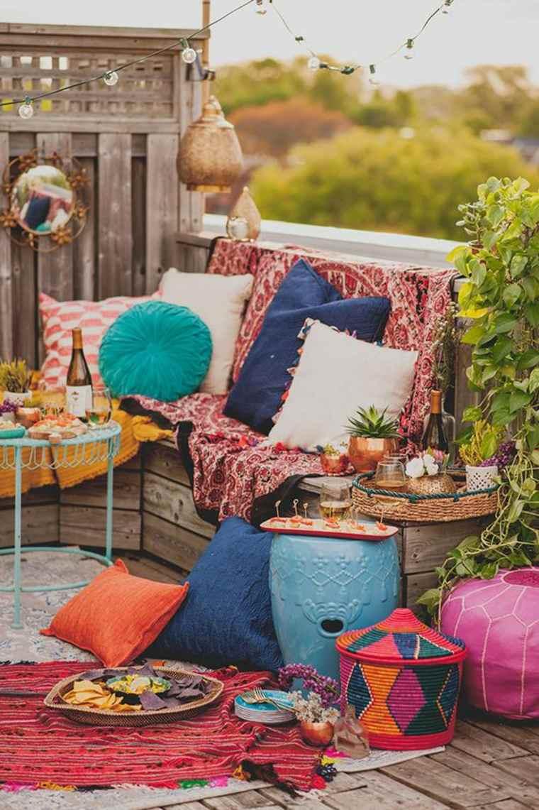 originales ideas de decoración de jardines boho chic