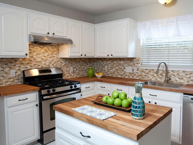 tipos de encimeras de cocina-estilo-madera