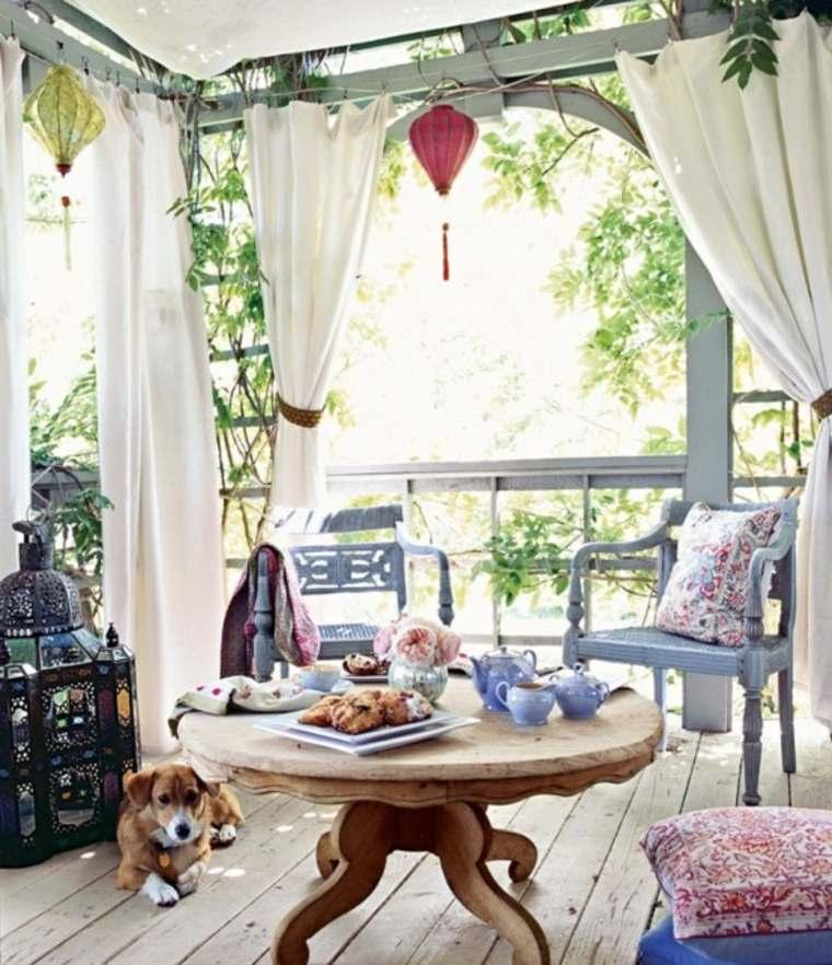 ideas de decoración de patios estilo boho chic