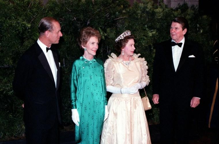 Los Reagan y la Familia Real Británica
