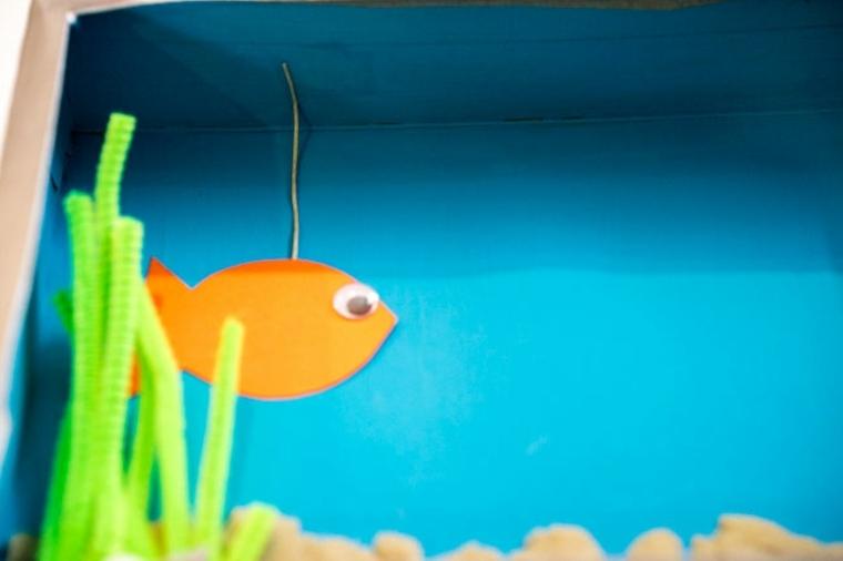Pez en acuario casero