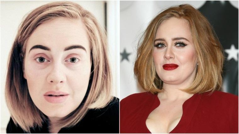 famosas sin maquillaje Adele