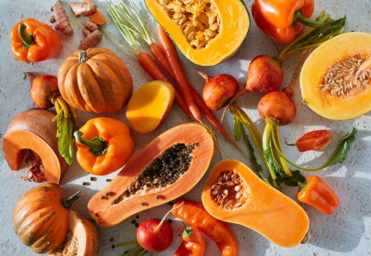 Las frutas y verduras de color naranja ayudan a mantener tu vista saludable