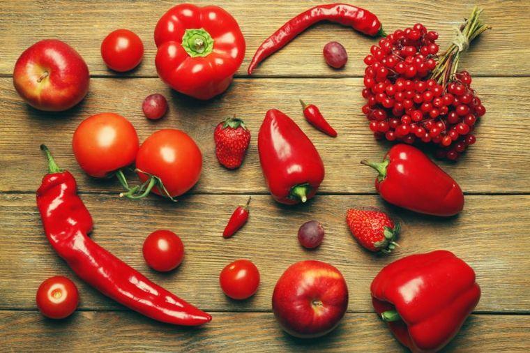 frutas y verduras rojas