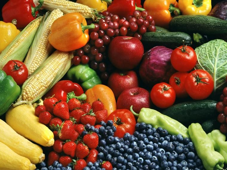 consumir alimentos de colores del arcoíris