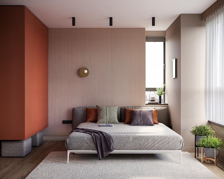 armario-color-naranja-dormitorio-estilo