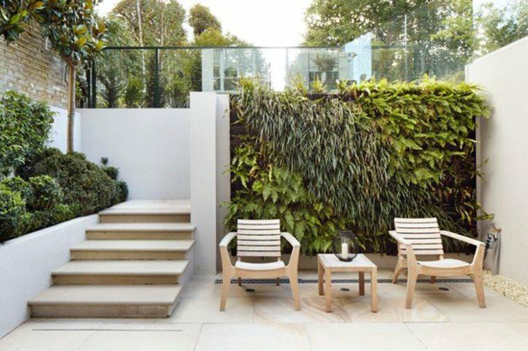 pared de acento jardín