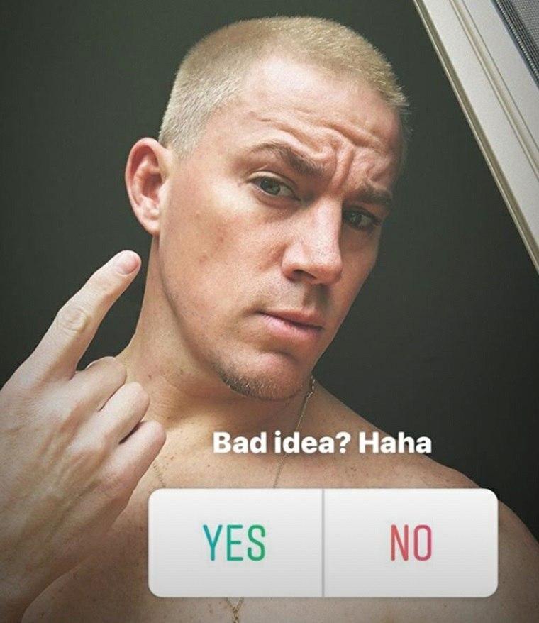 Channing Tatum teñido de rubio en Instagram