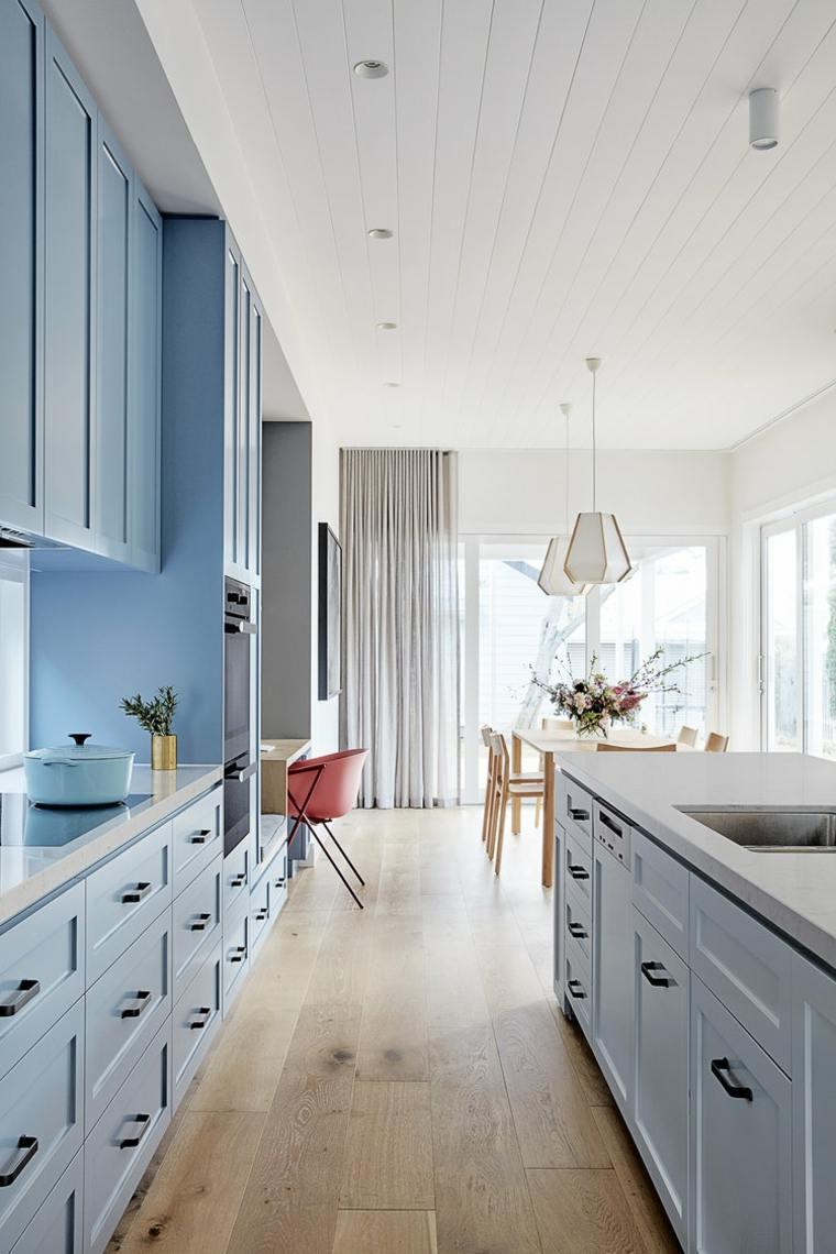 Diseños de casas con cocina moderna