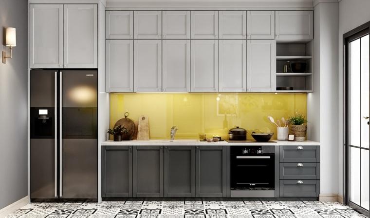 cocina combinar colores amarillo-negro