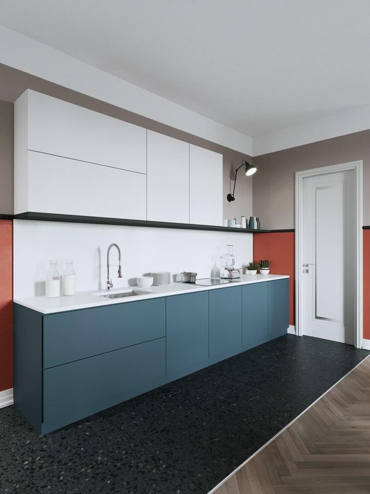 combinacion-azul-naranja-estilo-cocina