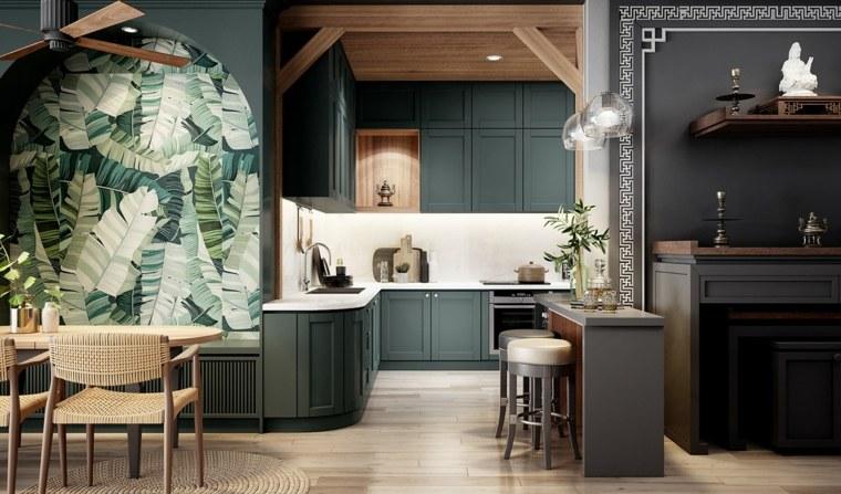 combinacion-verde-negro-casa-ideas