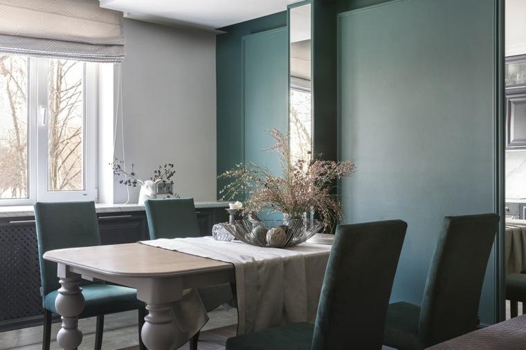 comedor-pared-verde-oscuro-opciones