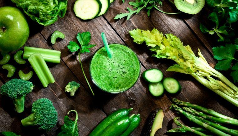 Las frutas y verduras verdes