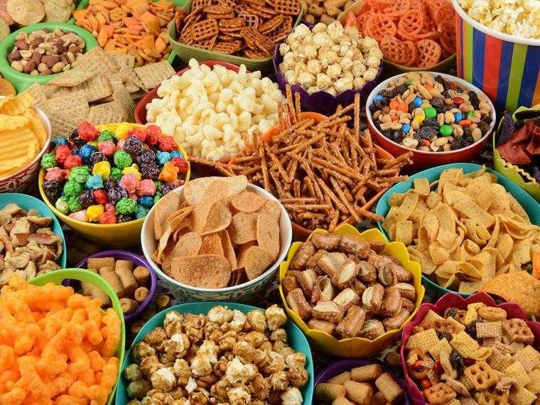 comida procesada snacks