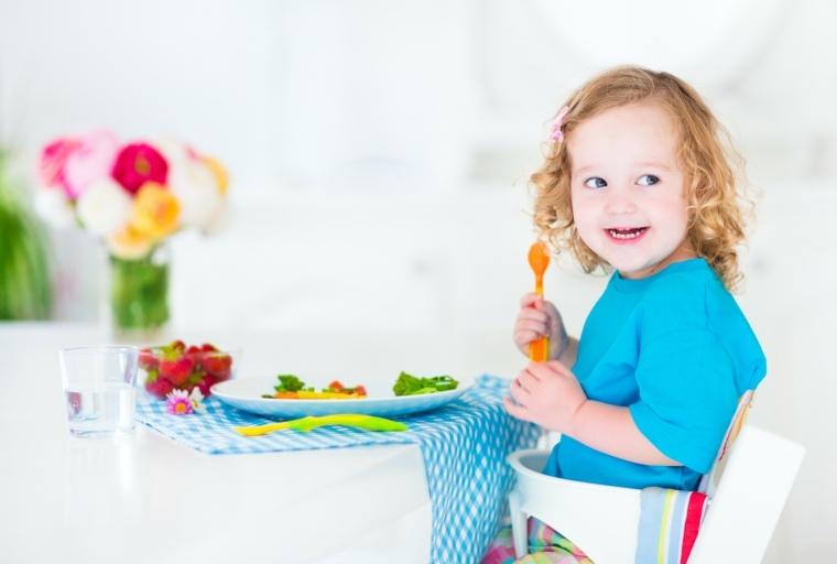 Arcoíris de alimentos para niños