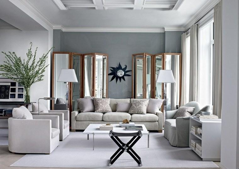 cómo decorar un salón-color-gris