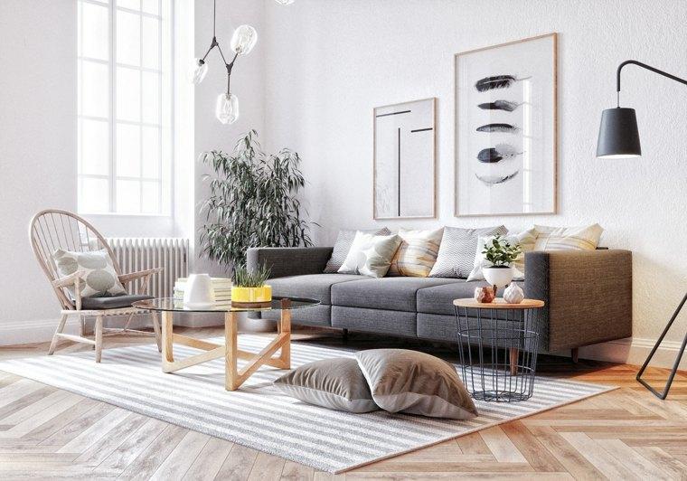 cómo decorar un salón-estilo-escandinavo-ideas