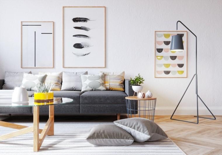 cómo decorar un salón-estilo-escandinavo