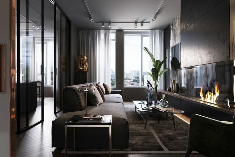 cómo decorar un salón-largo-estrecho