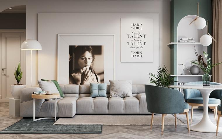cómo decorar un salón muebles bellos