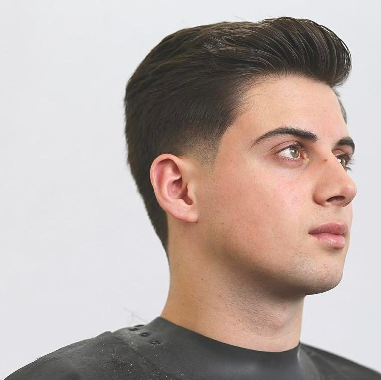 Corte de pelo degradado suave y con volumen