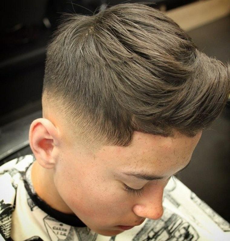 Corte de pelo con diversas capas