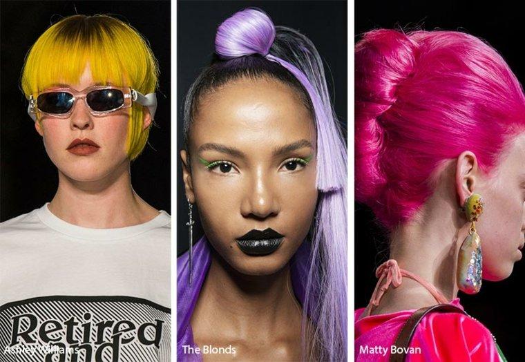 Cortes de cabello con colores de neón