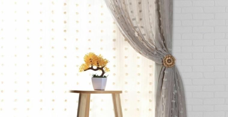 Diseño de interiores con cortinas modernas
