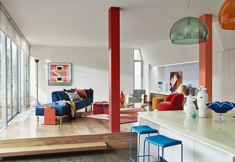 diseño interior colorido
