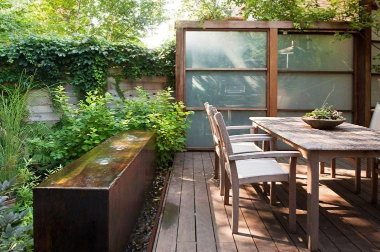pared de acento para jardín