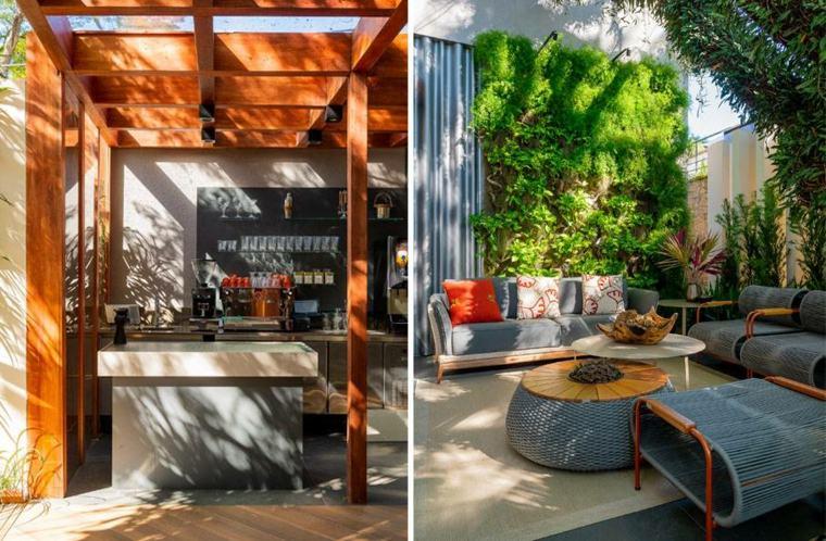 Diseñador de interiores reforma cafeteria