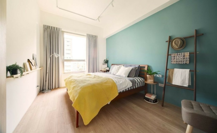 dormitorio-pared-color-destaca-ideas