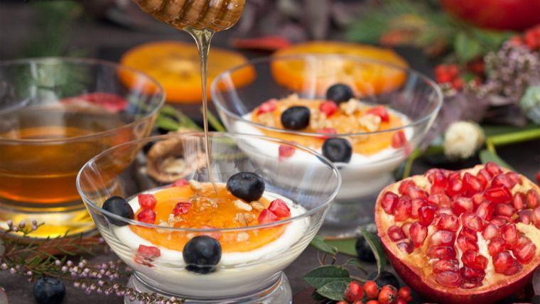 ensalada frutas yogurt miel