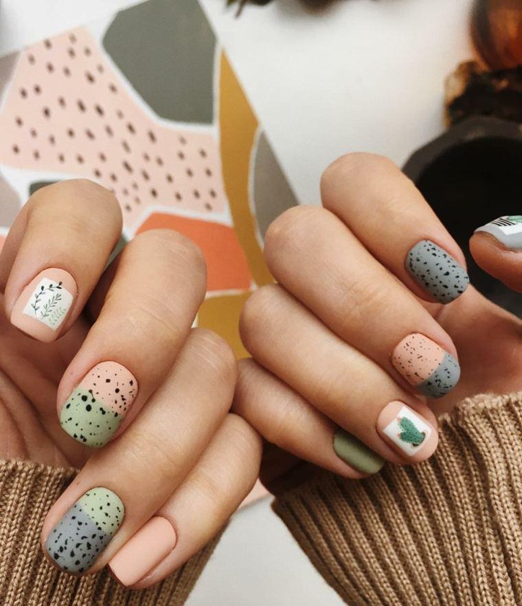 bonitas uñas mate