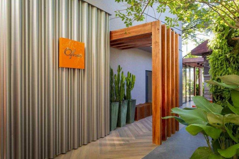 Diseño de fachada de cafeteria