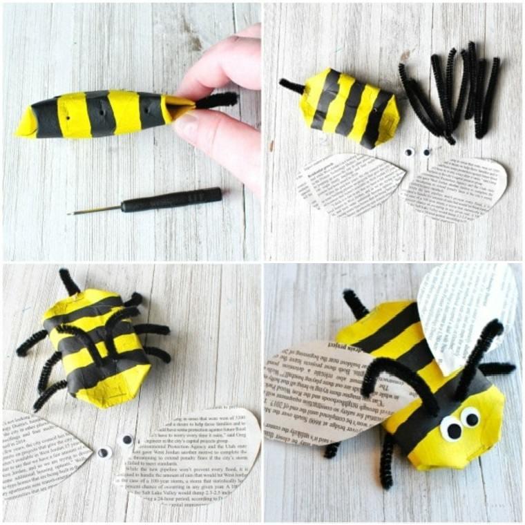 Manualidades para niños faciles, abejas de carton