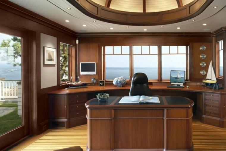interior de oficina estilo náutico