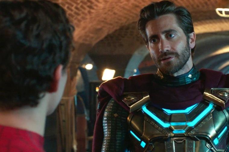 Jake Gyllenhaal y su look como Mysterio en Spiderman