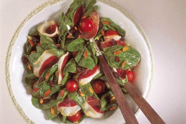 jamon iberico ensalada espinaca
