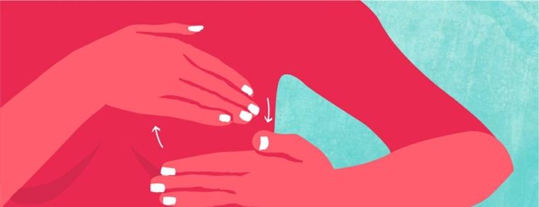 Masajear los senos